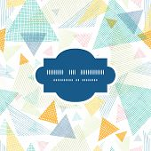Vector abstract fabric triangles frame seamless pattern background