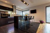 Modern Kitchen With Steel Elements