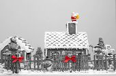 Gingerbread House Christmas Decoration Selective Color Applied