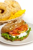 Smoked Salmon (Lox) Bagel