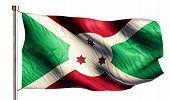 Burundi National Flag Isolated 3D White Background