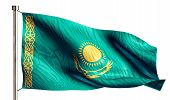 Kazakhstan National Flag Isolated 3D White Background