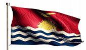 Kiribati National Flag Isolated 3D White Background