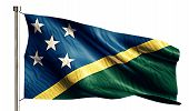 Solomon Islands National Flag Isolated 3D White Background