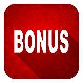 bonus flat icon, christmas button