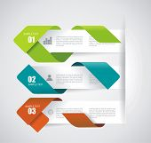 Modern Design Layout - Vector Paper Progress Steps