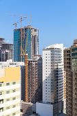Modern Office Buildings And Hotels Are Under Construction