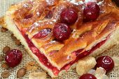 Pie with a stuffing from a fresh cherry