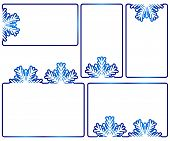 pic of freezing temperatures  - Set of five winter text boxes - JPG