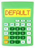 Calculator With Default On Display Isolated