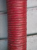 Red Grunge Plumbing Pipe