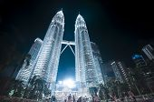 Night View Of Petronas Twin Towers