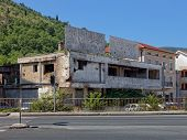 pic of yugoslavia  - Old destroyed building after war in Mostar Bosnia and Herzegovina - JPG