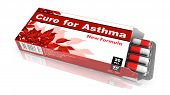 Cure For Asthma, Red Open Blister Pack.