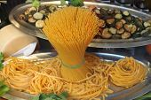 Raw pasta and noodles