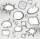Comic Speech Bubbles.  illustration.