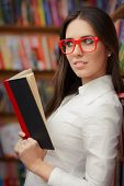 Young Woman with Reading Glasses