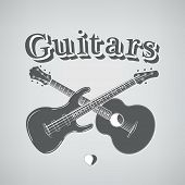 stock photo of guitar  - Music Instruments - JPG