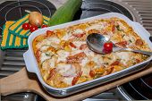 Tortellini Casserole With Tomatoes And Zucchini