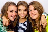 Three Happy Teenage Girls