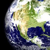 Earth Globe USA poster