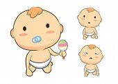 Baby mascot crawl action