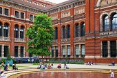 LONDON, UK - AUGUST 24, 2014: Victoria and Albert Museum historic building. V&A Museum is the world'
