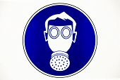 Gas Mask Work Place Sign