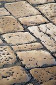 Roman Tiles On A Street In A Mediterranean Town
