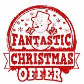 Fantastic Christmas Offer Stamp