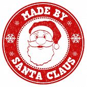 Made By Santa Claus Stamp