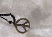Silver peace sign