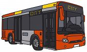 pic of motor-bus  - Vector illustration of hand - JPG