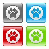 stock photo of paw  - Dog paw icon as a symbol of dog paw - JPG