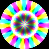 picture of trippy  - Abstract crazy colorful background on black background - JPG