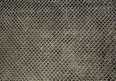 Metal chain link fence texture
