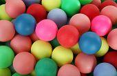 Colorful balls pile