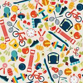Healthy Lifestyle Background - Illustration