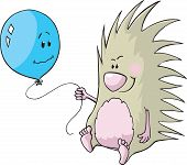 Porcupine and balloon