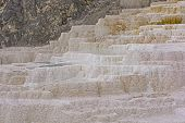 Travertine In A Hot Spring