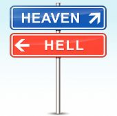 Heaven And Hell Directional Signs