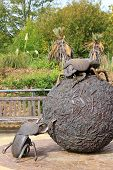Giant Dung Beetle Sculpture In London Zoo