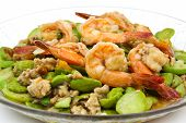 Stir-fried Thai Flat Beans With Shrimp