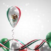 Flag of Mexico on balloon