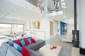 Modern Interior With Color Elements