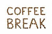 Coffee Break Words Made Of Coffee Beans