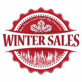Winter Sales stamp / sticker for print