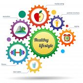 A Modern Set Of Infographic And Icons Healthy Lifestyle