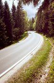 Vintage Photo Of Asphalt Road