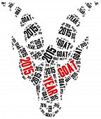 2015, Year Of The Goat In Chinese Zodiac Callendar.